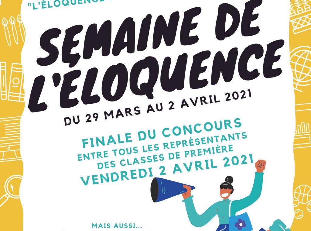 affiche - semaine éloquence 2021
